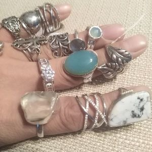 Chalcedony and Sterling Silver Ring 8
